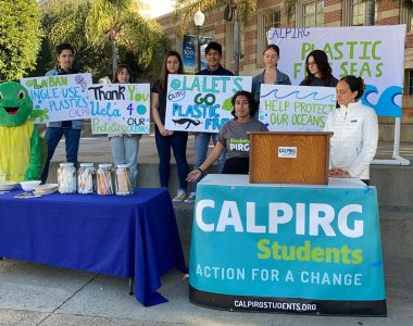 CALPIRG Students at UCLA wins campaign to phase out single-use plastics