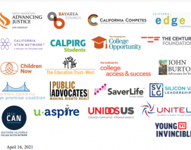 Letter of Support for the Cal Grant Reform Act